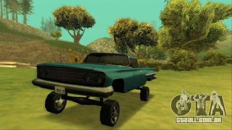 Voodoo El Camino v1 para GTA San Andreas interior