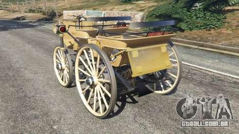 GTA 5 Daimler 1886 [wood] traseira vista lateral esquerda