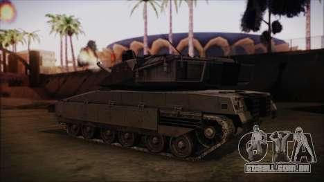 M2A1 Slammer Tank para GTA San Andreas esquerda vista