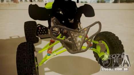 Honda TRX450 Quad para GTA San Andreas vista traseira