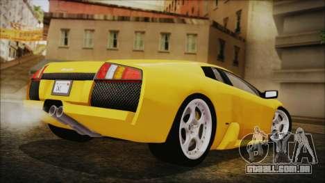 Lamborghini Murcielago 2005 Yuno Gasai IVF para GTA San Andreas esquerda vista