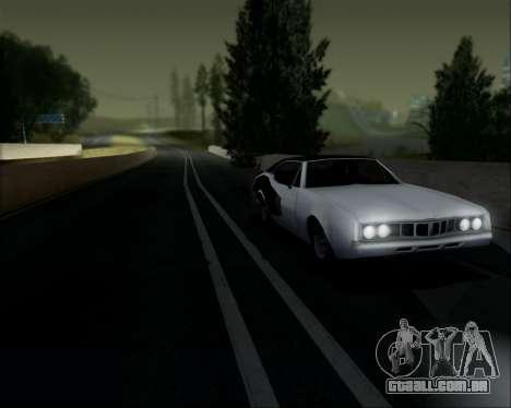 Clover Barracuda para GTA San Andreas vista traseira