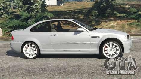 GTA 5 BMW M3 (E46) vista lateral esquerda