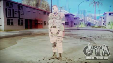 MGSV Phantom Pain Snake Normal Golden Tiger para GTA San Andreas segunda tela