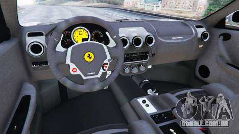 GTA 5 Ferrari F430 2004 traseira direita vista lateral