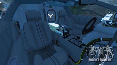 GTA 5 DeLorean DMC-12 Back To The Future v1.0 vista lateral direita