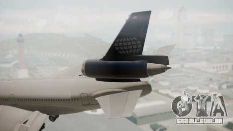 DC-10-30 World Airways (Blue Tail) para GTA San Andreas traseira esquerda vista