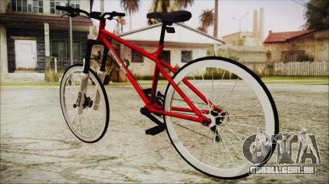 Scorcher Racer Bike para GTA San Andreas esquerda vista