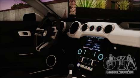 Ford Mustang Shelby GT350R 2016 Kirito Itasha para GTA San Andreas vista direita