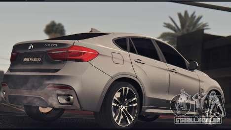 BMW X6M 50D para GTA San Andreas traseira esquerda vista