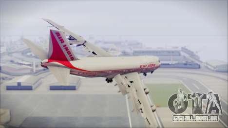 Boeing 747-237Bs Air India Emperor Ashoka para GTA San Andreas esquerda vista