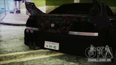 Nissan Skyline R33 Widebody v2.0 para GTA San Andreas vista interior