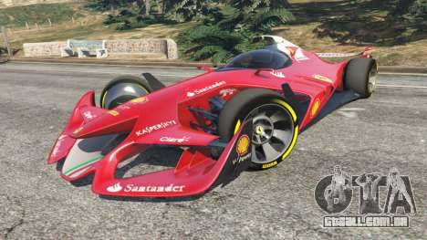 GTA 5 Ferrari F1 Concept vista lateral direita
