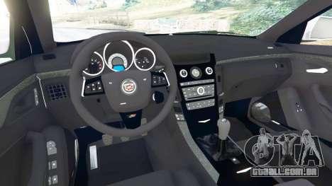 GTA 5 Cadillac CTS-V 2009 traseira direita vista lateral
