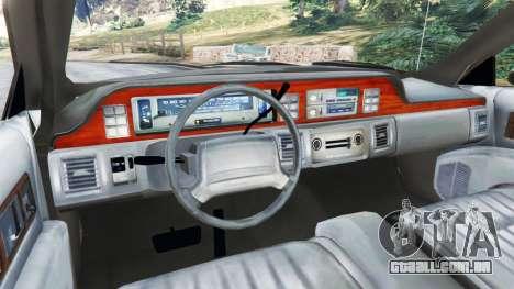 GTA 5 Chevrolet Caprice 1991 v1.2 traseira direita vista lateral