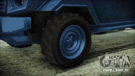 GTA 5 HVY Insurgent Van IVF para GTA San Andreas traseira esquerda vista