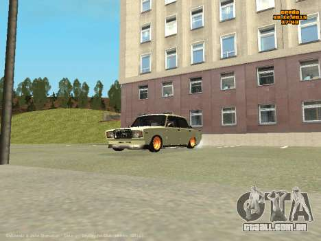VAZ 2107 Carro para GTA San Andreas vista interior