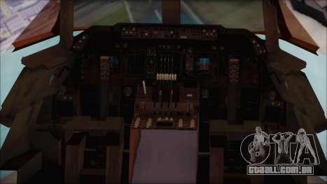 Boeing 747-100 Blue para GTA San Andreas vista traseira