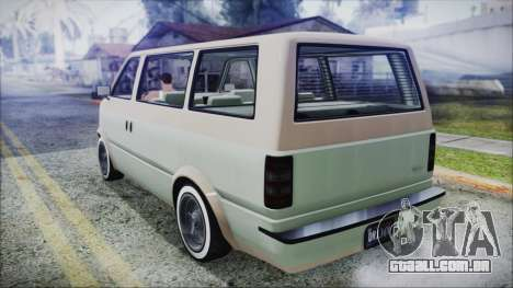 GTA 5 Declasse Moonbeam Custom IVF para GTA San Andreas esquerda vista