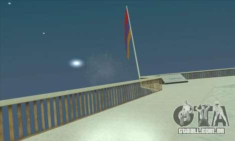 Armênia bandeira sobre o monte Chiliad para GTA San Andreas