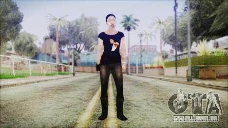 Left 4 Dead Rochelle para GTA San Andreas segunda tela