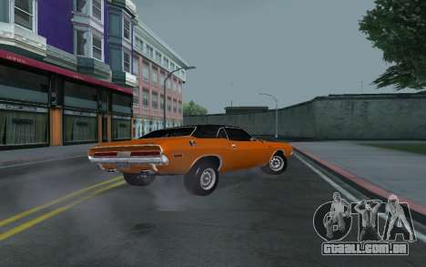 Dodge Challenger Tunable para GTA San Andreas vista superior