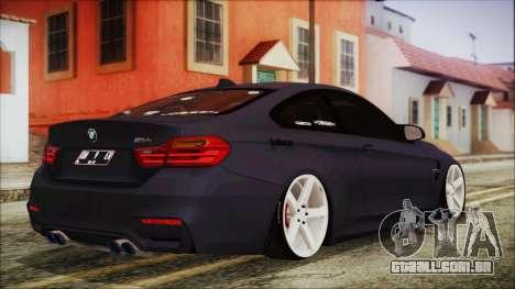 BMW M4 Stance 2014 para GTA San Andreas esquerda vista