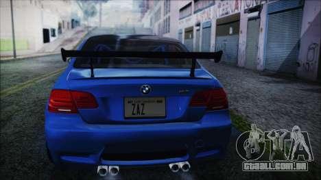 BMW M3 GTS 2011 HQLM para GTA San Andreas esquerda vista