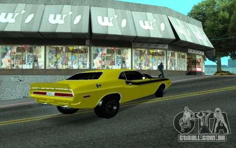 Dodge Challenger Tunable para GTA San Andreas vista direita