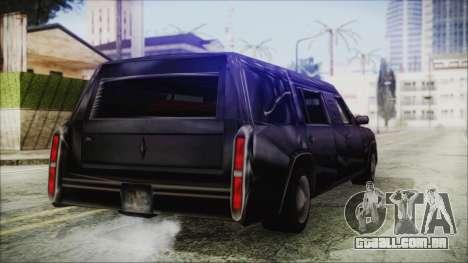 The Romeros Hearse para GTA San Andreas traseira esquerda vista