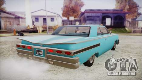 GTA 5 Declasse Clean Voodoo Bobble Version IVF para GTA San Andreas esquerda vista