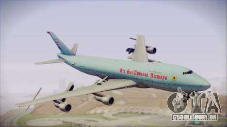 Boeing 747-100 Blue para GTA San Andreas