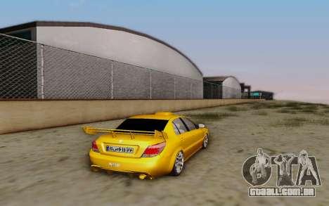Ikco Dena Full Tuning para GTA San Andreas esquerda vista
