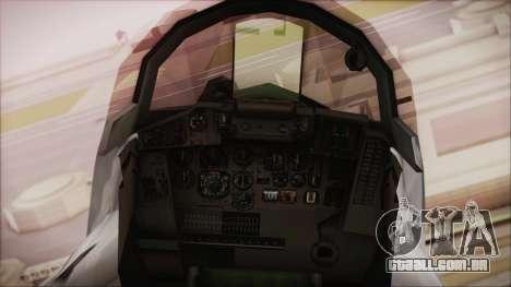 MIG-29 Fulcrum Ukrainian Falcons para GTA San Andreas vista direita