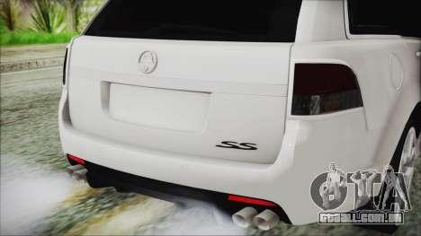 Holden Commodore VE Sportwagon 2012 para GTA San Andreas vista traseira