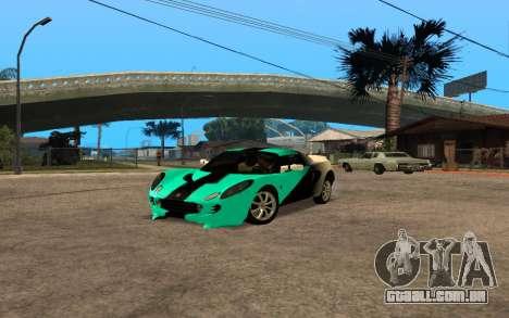 Lotus Elise 111s Tunable para GTA San Andreas traseira esquerda vista