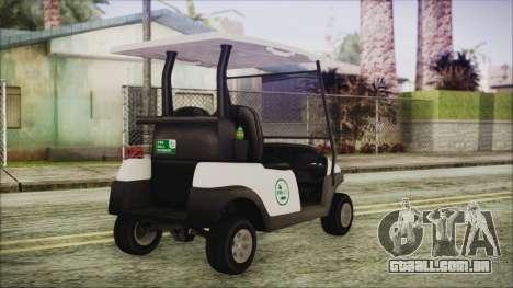 GTA 5 Golf Caddy para GTA San Andreas esquerda vista