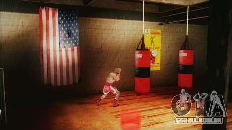 SF Goku Gym para GTA San Andreas por diante tela