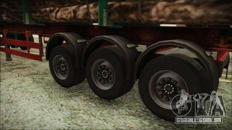 Iveco EuroTech Forest Trailer para GTA San Andreas traseira esquerda vista
