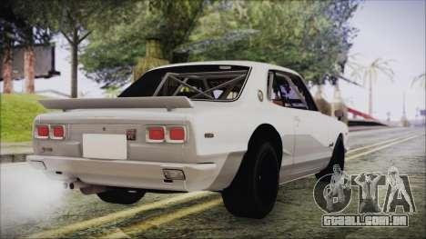 Nissan Skyline GT-R Hakosuka para GTA San Andreas esquerda vista