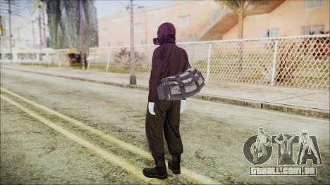 GTA 5 Online The Heist Gasmask White para GTA San Andreas terceira tela
