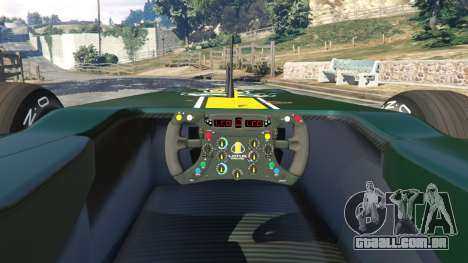 GTA 5 Lotus T127 traseira direita vista lateral