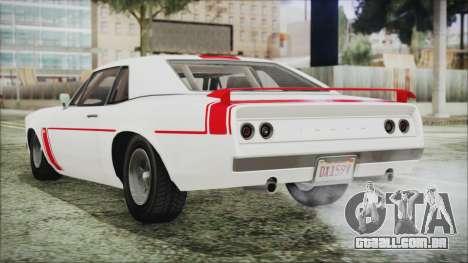 GTA 5 Declasse Tampa para GTA San Andreas esquerda vista