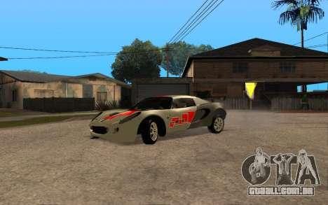 Lotus Elise 111s Tunable para GTA San Andreas vista traseira