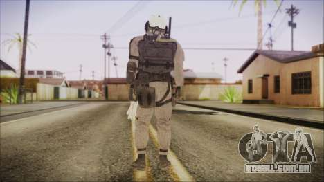 XOF Soldier (Metal Gear Solid V Ground Zeroes) para GTA San Andreas terceira tela