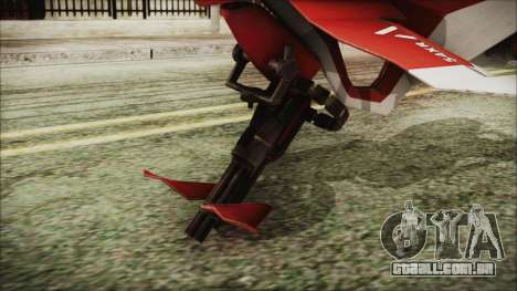 Syndicate Flying Motorcycle para GTA San Andreas traseira esquerda vista
