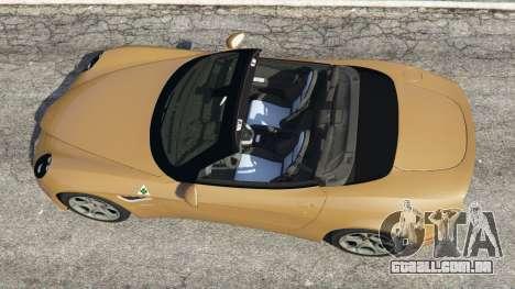 GTA 5 Alfa Romeo 8C Spider 2012 voltar vista
