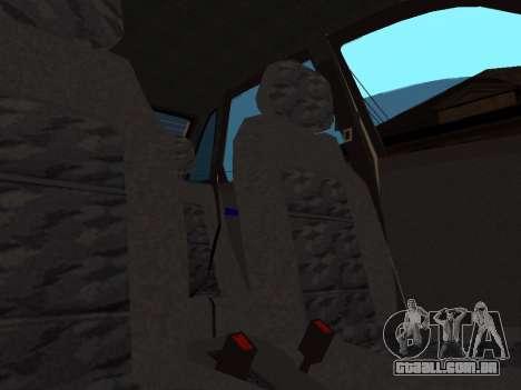 VAZ 2110 DPS para GTA San Andreas interior