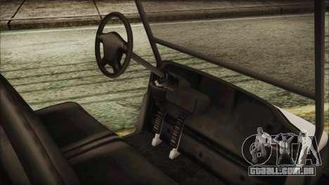 GTA 5 Golf Caddy para GTA San Andreas traseira esquerda vista