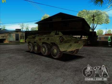 BTR 80 para GTA San Andreas vista direita